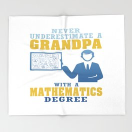 Mathematics Degree Grandpa Throw Blanket