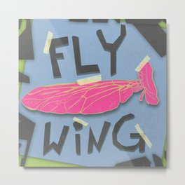 A Fly Wing Metal Print