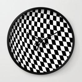 Warped Checkerboard Wall Clock