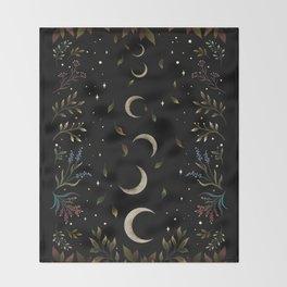 Crescent Moon Garden Throw Blanket