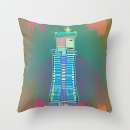 KING / White / Chess Throw Pillow