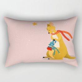 Baby Kangaroo first Christmas Rectangular Pillow