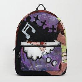 skull and girl dancing Backpack
