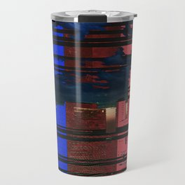 Cityscape Abstract Travel Mug