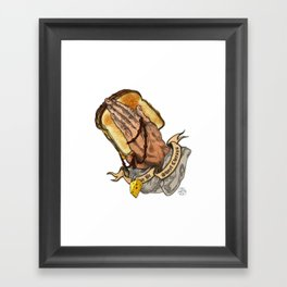 Holy Cheesus Framed Art Print