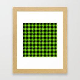 Lawn Green  Bison Plaid Framed Art Print