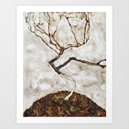 Egon Schiele - Small Tree In Late Autumn Art Print