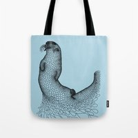otter Tote Bags featuring Otter by Julia Kisselmann