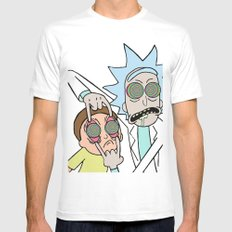 Rick & Morty Psychedelic Mens Fitted Tee MEDIUM White