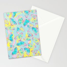 BUTTERFLIES YELLOW Stationery Cards