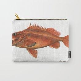 Vermilion Rockfish - Fish artwork watercolor Carry-All Pouch