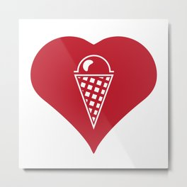 I Love Ice Cream Metal Print