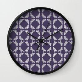 Meteorite Purple Arts and Crafts Butterflies Wall Clock