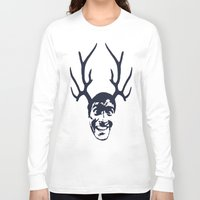 evil dead Long Sleeve T-shirts featuring Deer Ash - Evil Dead by Iamzombieteeth Clothing
