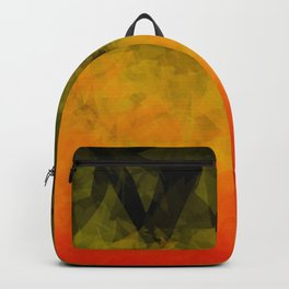 Sunset Abstract Facets Backpack
