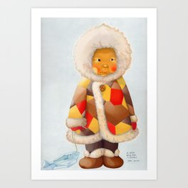 a child being lost in thought Art Print