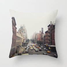 New York City Streets Throw Pillow
