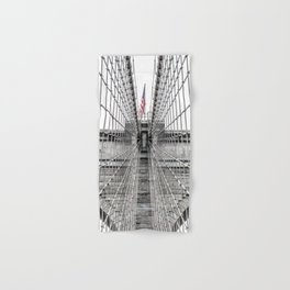 The Brooklyn Bridge and American Flag Hand & Bath Towel