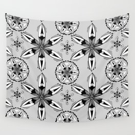 Black and White Sea Pods Wall Tapestry
