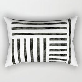 Black Geometric Rectangular Pillow
