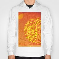 orange pattern Hoodies featuring Orange Pattern by RifKhas