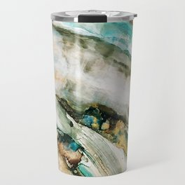 Teal Turquoise Geode Travel Mug