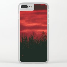 Deep Red Sky at Sunset Clear iPhone Case