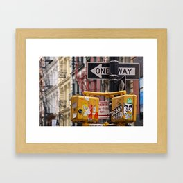 Colorful Streets of SoHo, NYC Framed Art Print