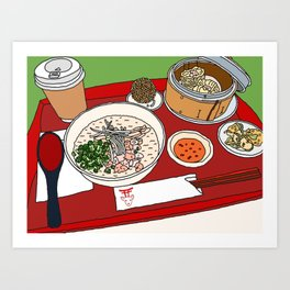 Happy Dim Sum Platter Art Print