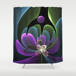 Decorative Flower Fractal, Floral Fantasy Shower Curtain
