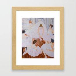 Ballerinas in a dance studio Framed Art Print