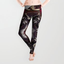 Beauty And The Beet -- A Kaleidoscope Of Beets Leggings