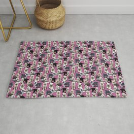 The Old English Sheepdog Pink Rug