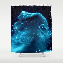 Turquoise Horsehead NeBula Shower Curtain