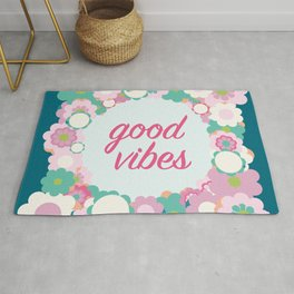 Good vibes floral Rug