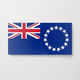 Cook Islands Flag Metal Print
