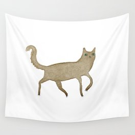 Suspicious-Looking Moggy Wall Tapestry