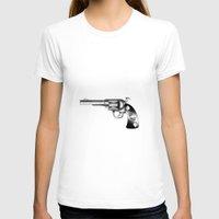 gun T-shirts featuring Gun by nohholmez
