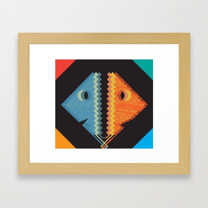 Two Face Framed Art Print