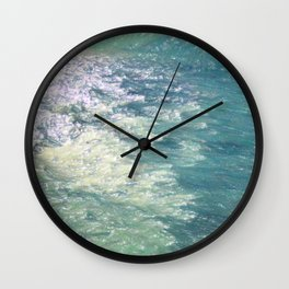 Sea Painting Maravellous Effect with brushes Wall Clock