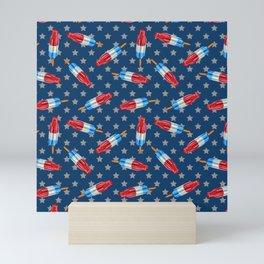 Patriotic Rocket Pop Pattern Mini Art Print