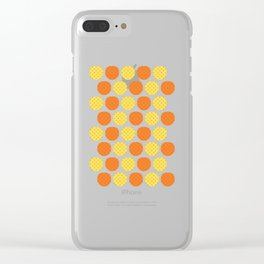 Dotty Pineapples - Singapore Tropical Fruits Series Clear iPhone Case