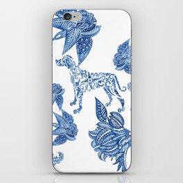 BLUE BATIK WEIMS iPhone Skin