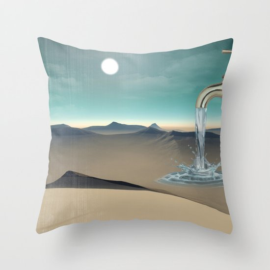 filling the void Throw Pillow