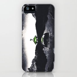 The Landing A Zebes Surrealism iPhone Case