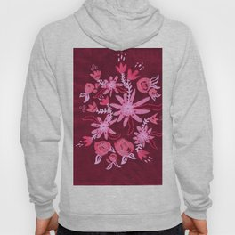 Cranberry Nocturne Rose Hoody