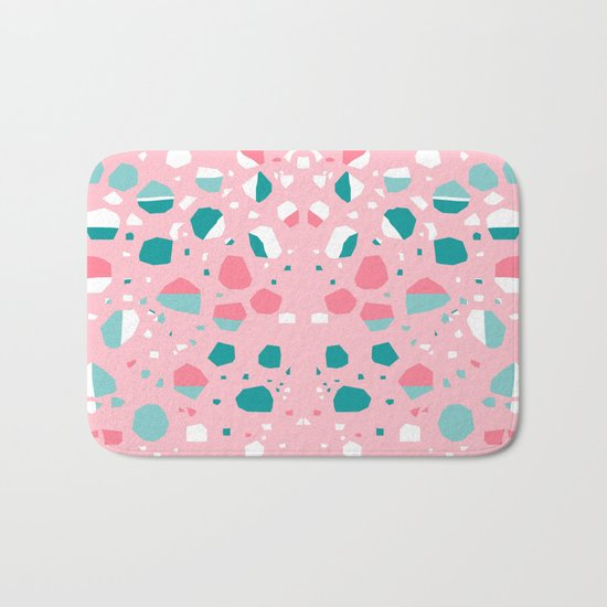 Airhead - memphis throwback retro vintage pastel pink palm springs socal california dreamer pop art Bath Mat