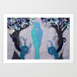 Winter Kiss 1 Art Print