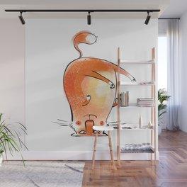 Yoga Cat #1 Wall Mural