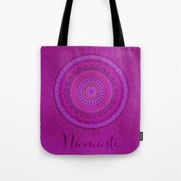 Namaste Mandala Yoga Hindi Symbol Tote Bag